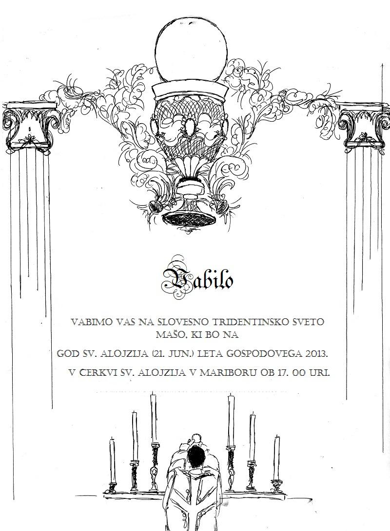 Vabilo – tradicionalana latinska maša v Mariboru