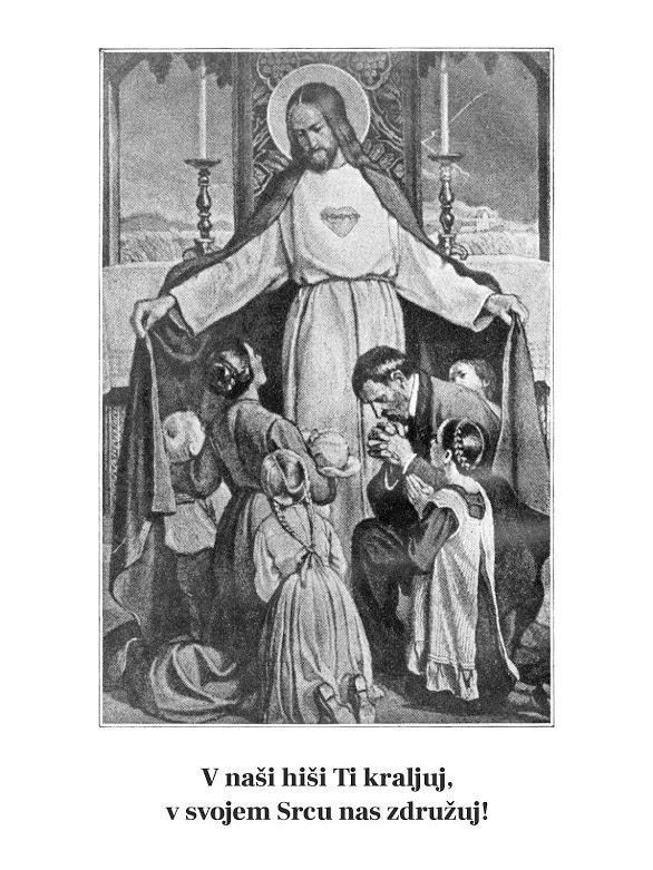 Obred posvetitve družin presv. Srcu Jezusovemu